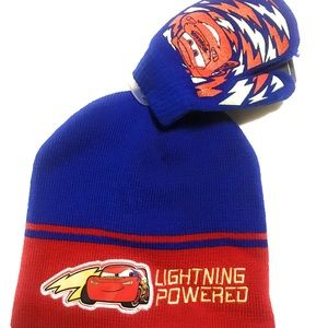 Disney Cars Lightening McQueen boys hat & mitten